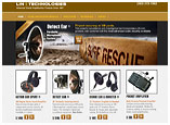 Website design for Parabolic Listening Devices, Lin Technologies