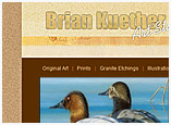 Web Design for Brian Kuether - WI wildlife and nature artist