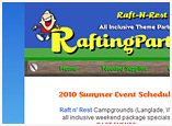 Web Design and Artwork for RaftingParty.com