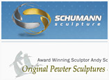 Web Design for Artist and Sculpter Andy Schumann
