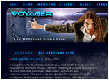 Band Website Design, Site Design for Voyager Australia